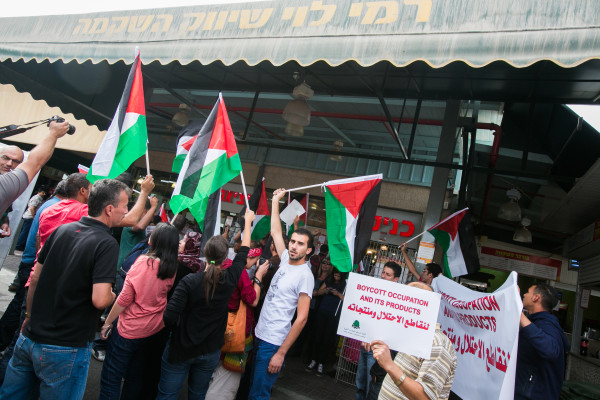 Direct action by Palestinian activists in the Sha'ar Binyamin settlement, West Bank