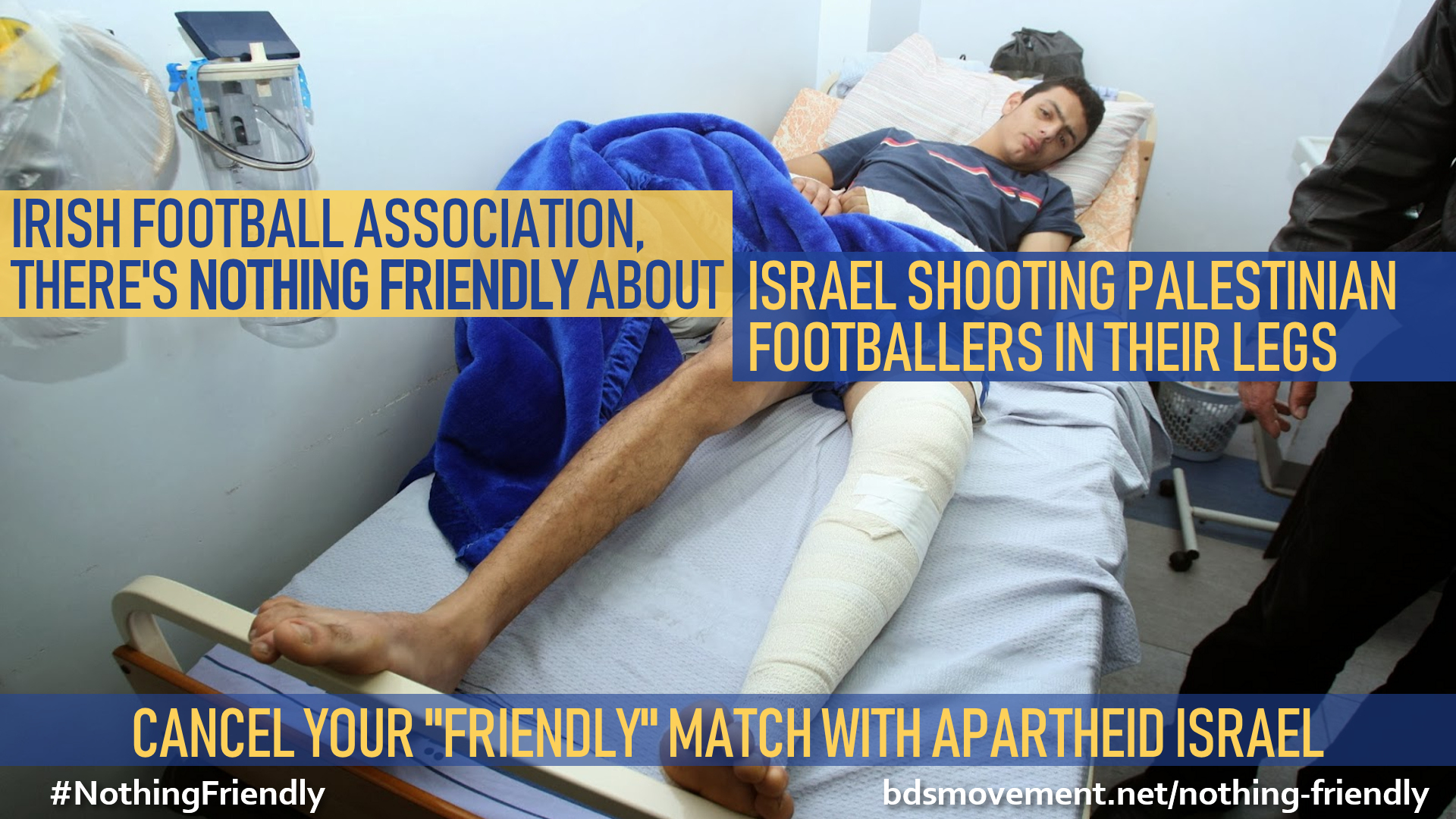 Irish Football Assoc, there's nothing friendly about shooting Palestinian footballers in their legs