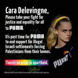 Urge Cara Delevingne to take her stand for justice to Puma