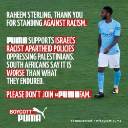 Urge Superstar Footballer Raheem Sterling Not to Sign With Puma