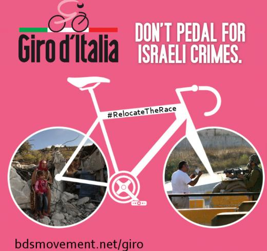 #RelocateTheRace: Move Giro d'Italia from Israel