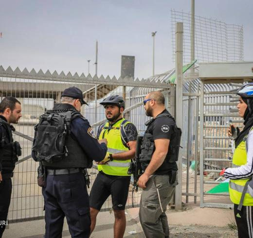 "A Cycling Palestine team leader was detained by armed Israeli forces for ""trespassing"" during a protest ride against the Giro d'Italia cycling race"