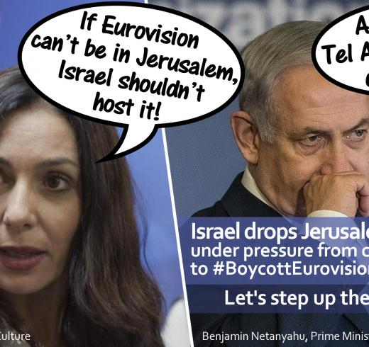"Israel Drops ""Jerusalem Condition"" for Hosting Eurovision in First Milestone For Boycott Campaign"