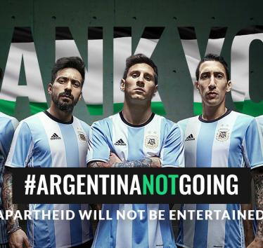 Argentina cancels friendly match with Israel