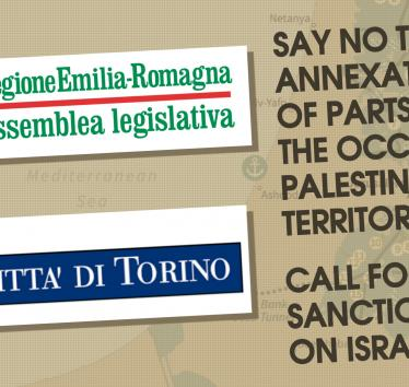Italian Regional and City Councils Call for Sanctions Against Israel's Annexation Plans and Violations of International Law