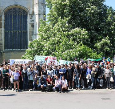 38 Cambridge University student groups demand University end its complicity in war crimes by terminating links with BAE Systems and Caterpillar Inc.