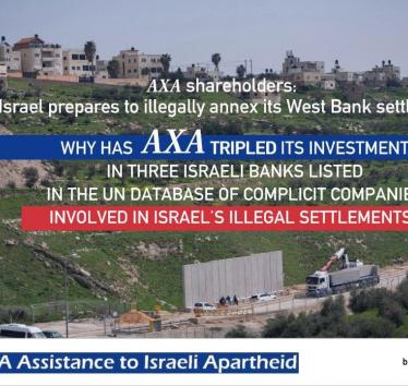 Stop AXA assistance to Israeli apartheid