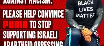 Thank you Lewis Hamilton for your stand against racism. Please urge Puma to end support for Israeli apartheid.
